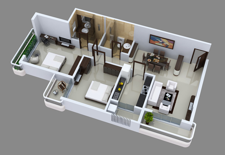 Maharaja infra for Interior designs 2bhk flat