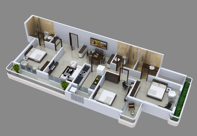 Maharaja infra for Best interior designs for 3 bhk flats